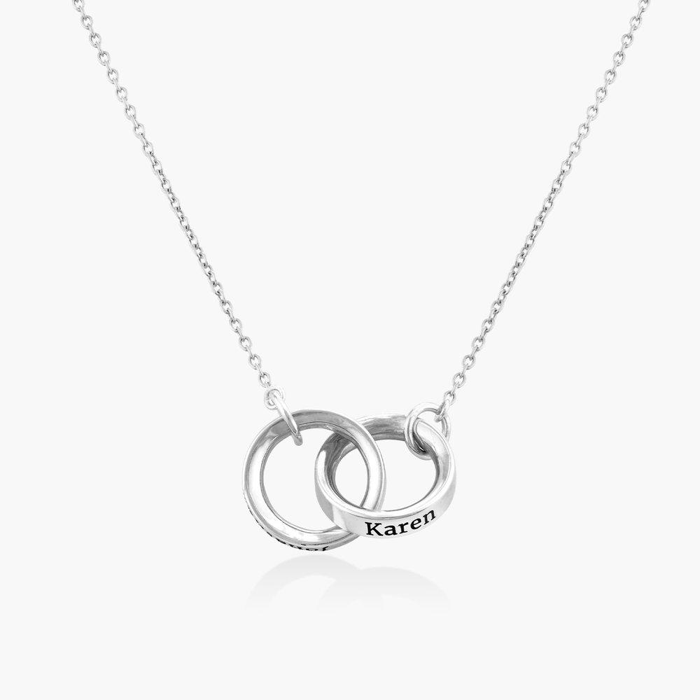 Interlocking Circle Necklace - Sterling Silver