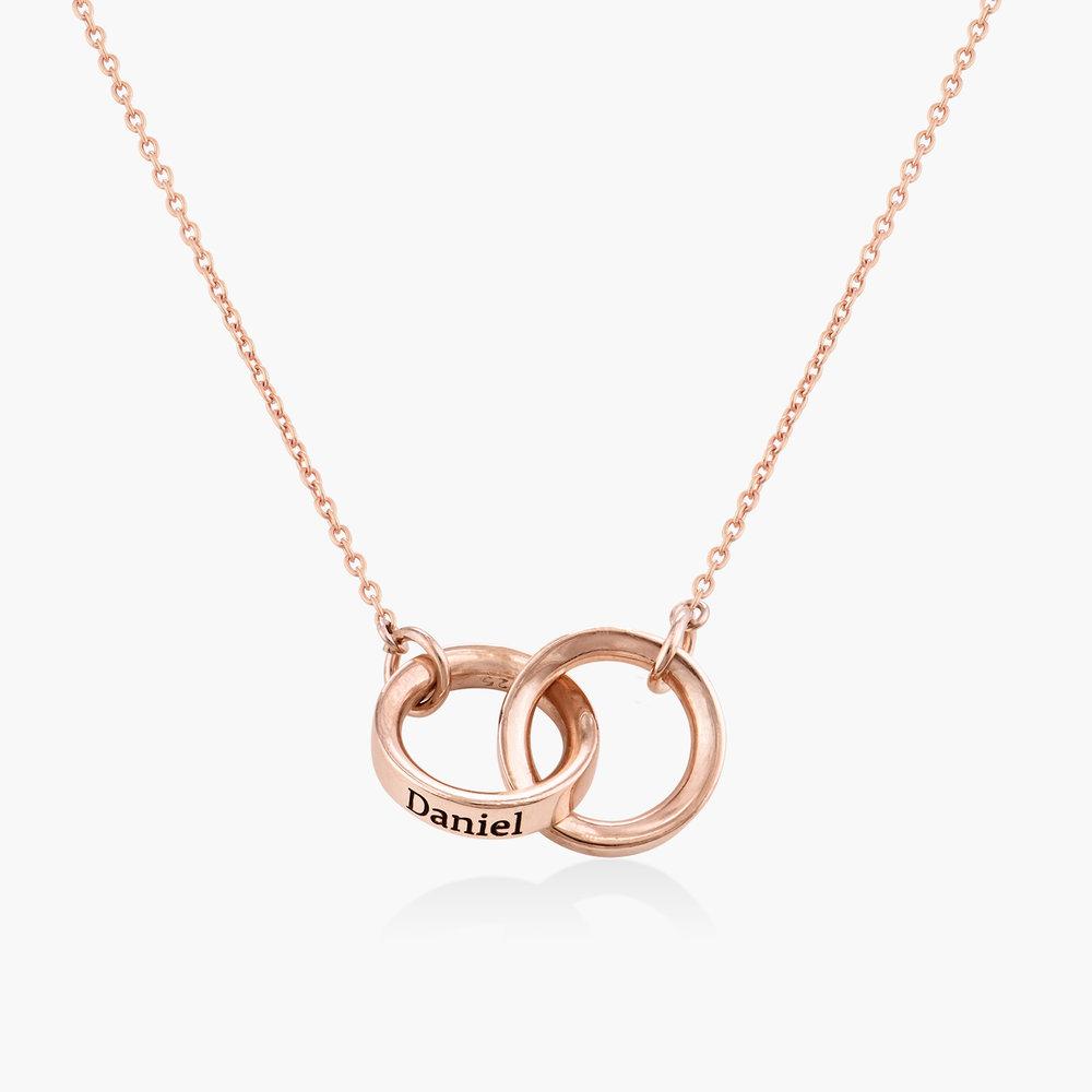 Interlocking Circle Necklace - Rose Gold Plating