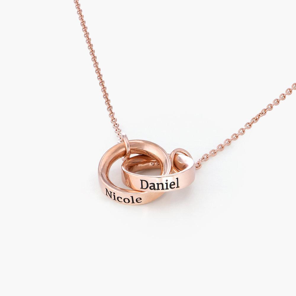 Interlocking Circle Necklace - Rose Gold Plating - 1