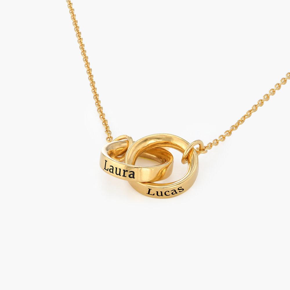 Interlocking Circle Necklace - Gold Vermeil - 1