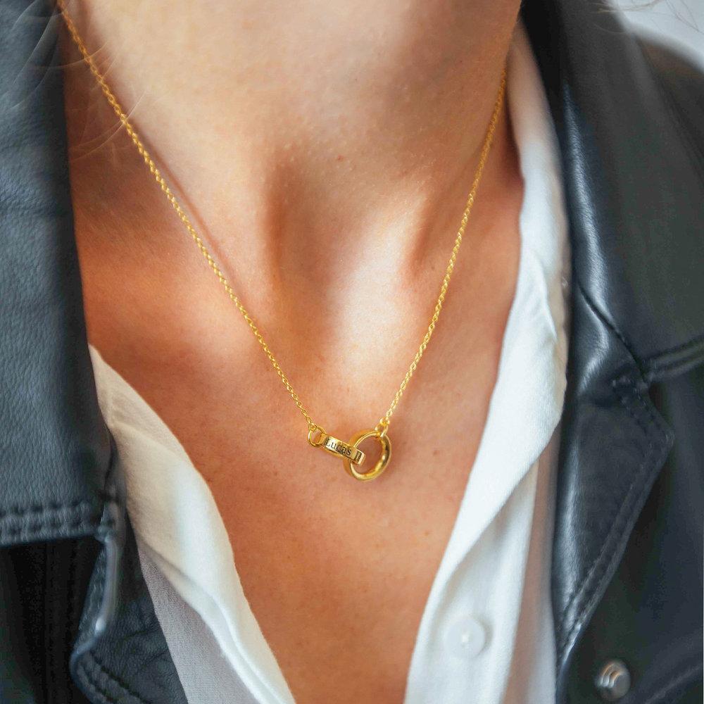 Interlocking Circle Necklace - Gold Vermeil - 2