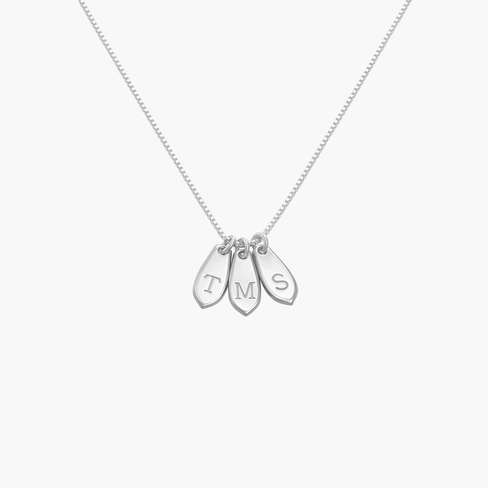 Willow Drop Initial Necklace - Sterling Silver