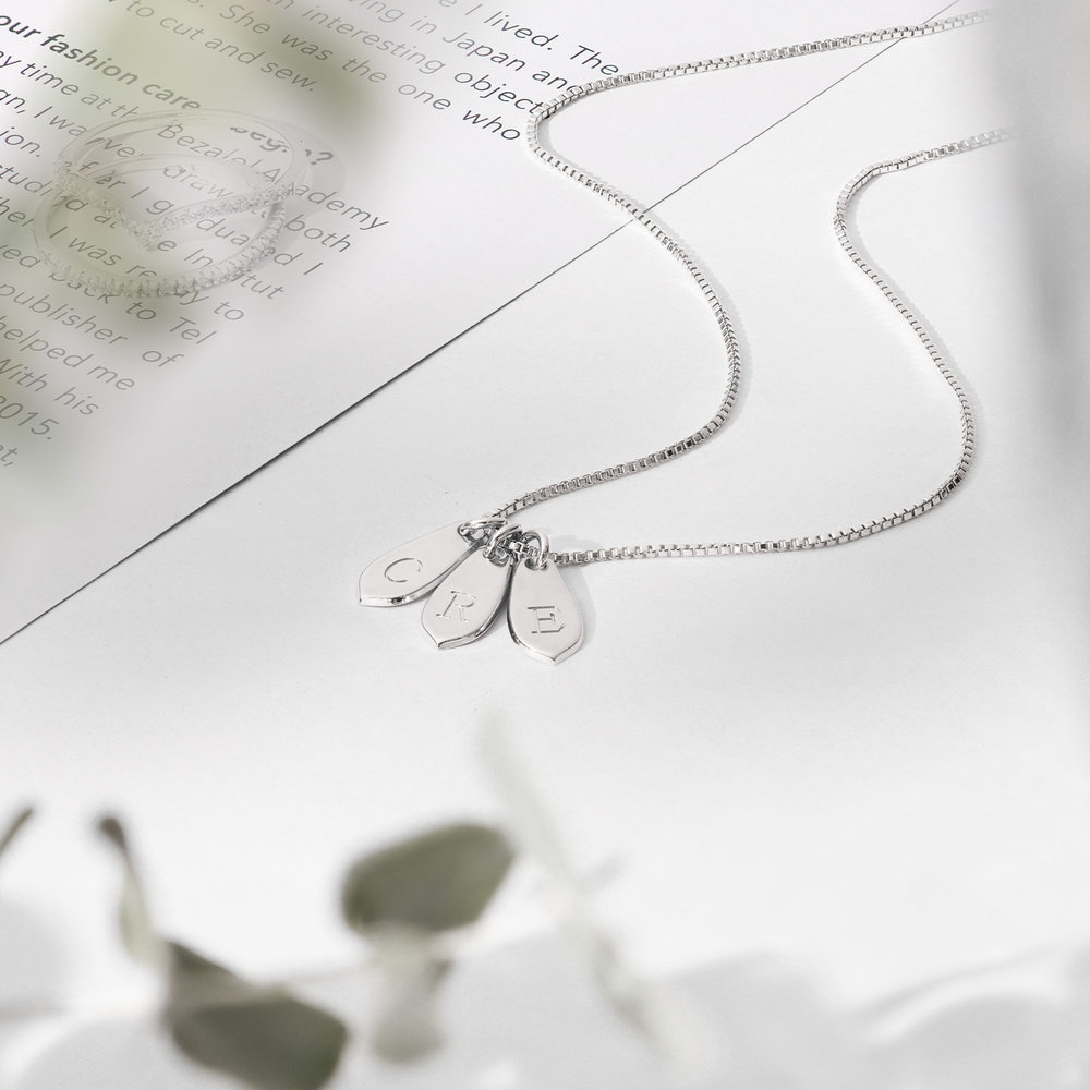 Willow Drop Initial Necklace - Sterling Silver - 2