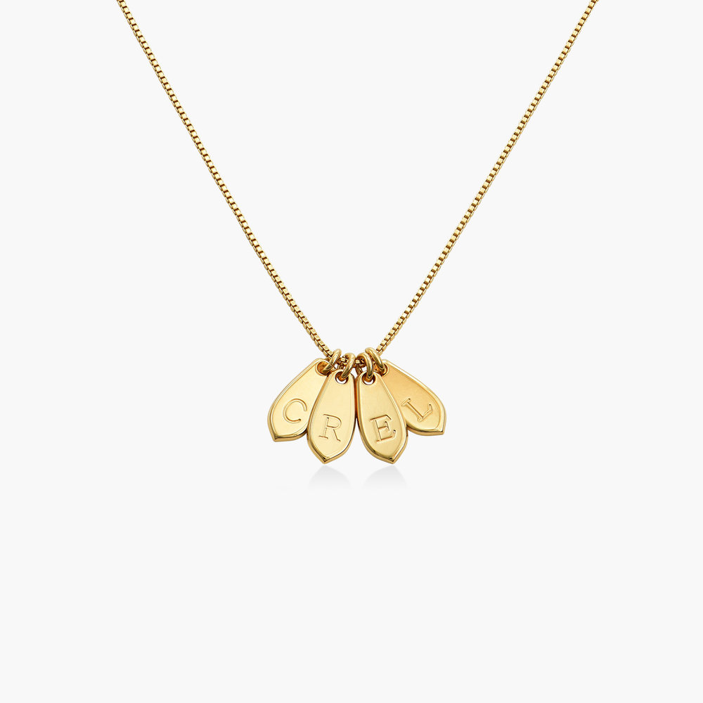 Willow Drop Initial Necklace - Gold Plating - 1