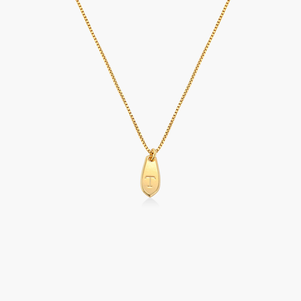 Willow Drop Initial Necklace - Gold Vermeil