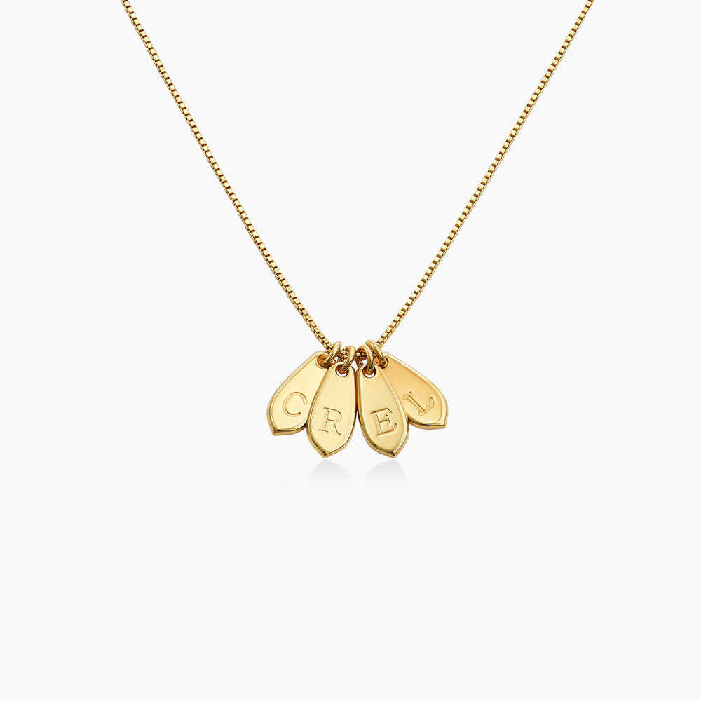 Willow Drop Initial Necklace - Gold Vermeil - 1