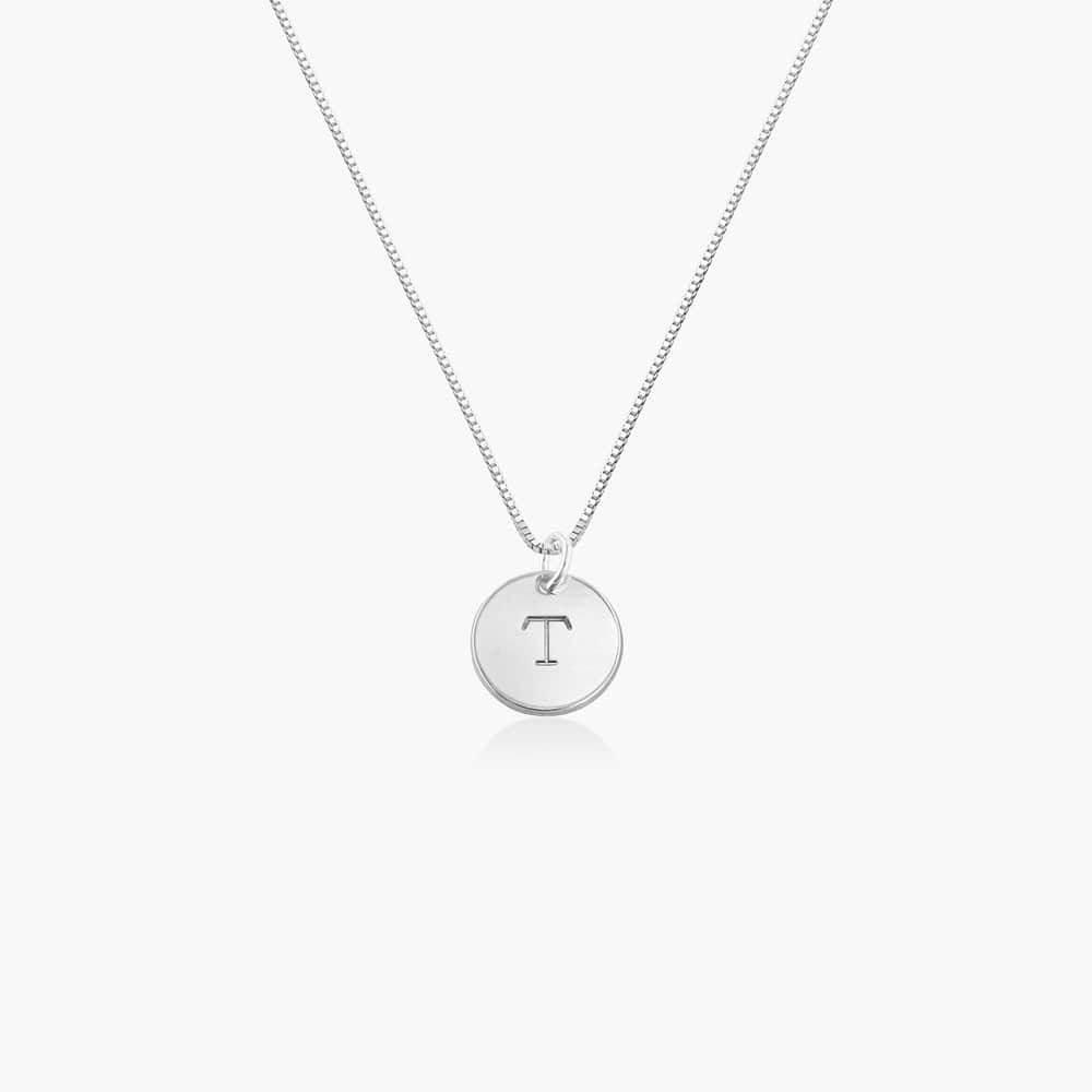 Willow Disc Initial Necklace - Sterling Silver