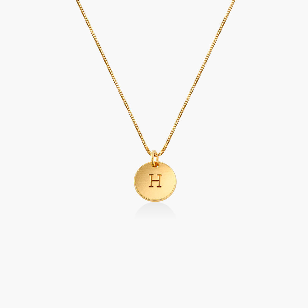 Willow Disc Initial Necklace - Gold Plating