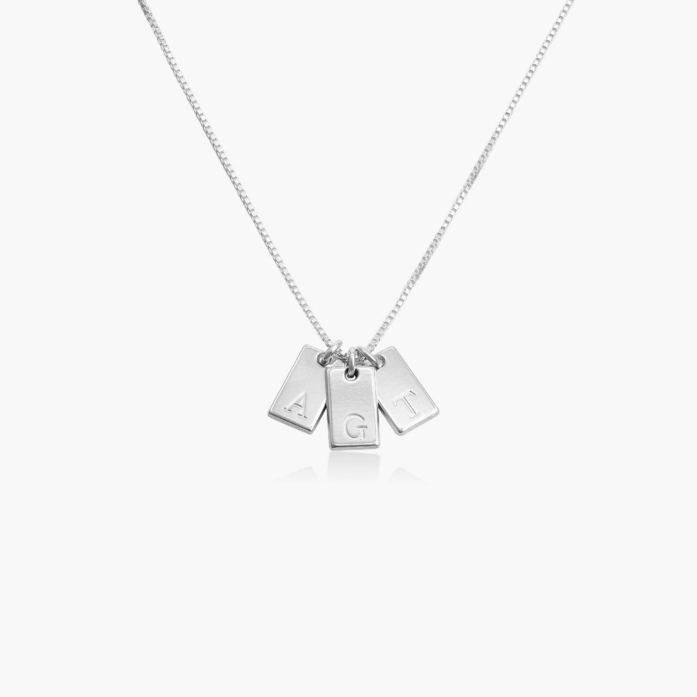Willow Tag Initial Necklace - Sterling Silver