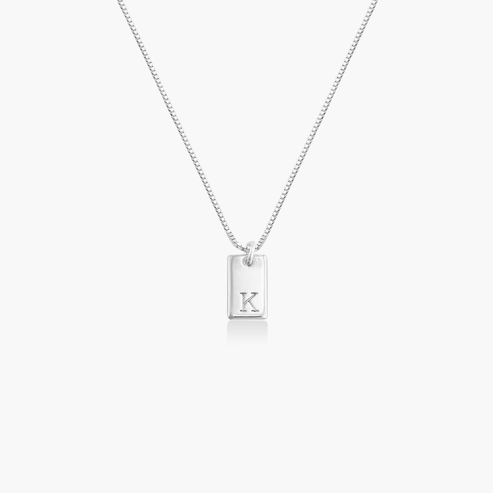 Willow Tag Initial Necklace - Sterling Silver - 1