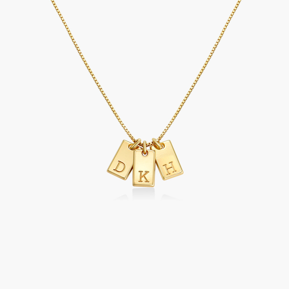 Willow Tag Initial Necklace - Gold Plating