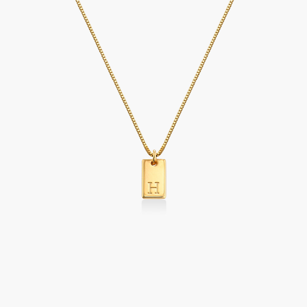 Willow Tag Initial Necklace - Gold Plating - 1