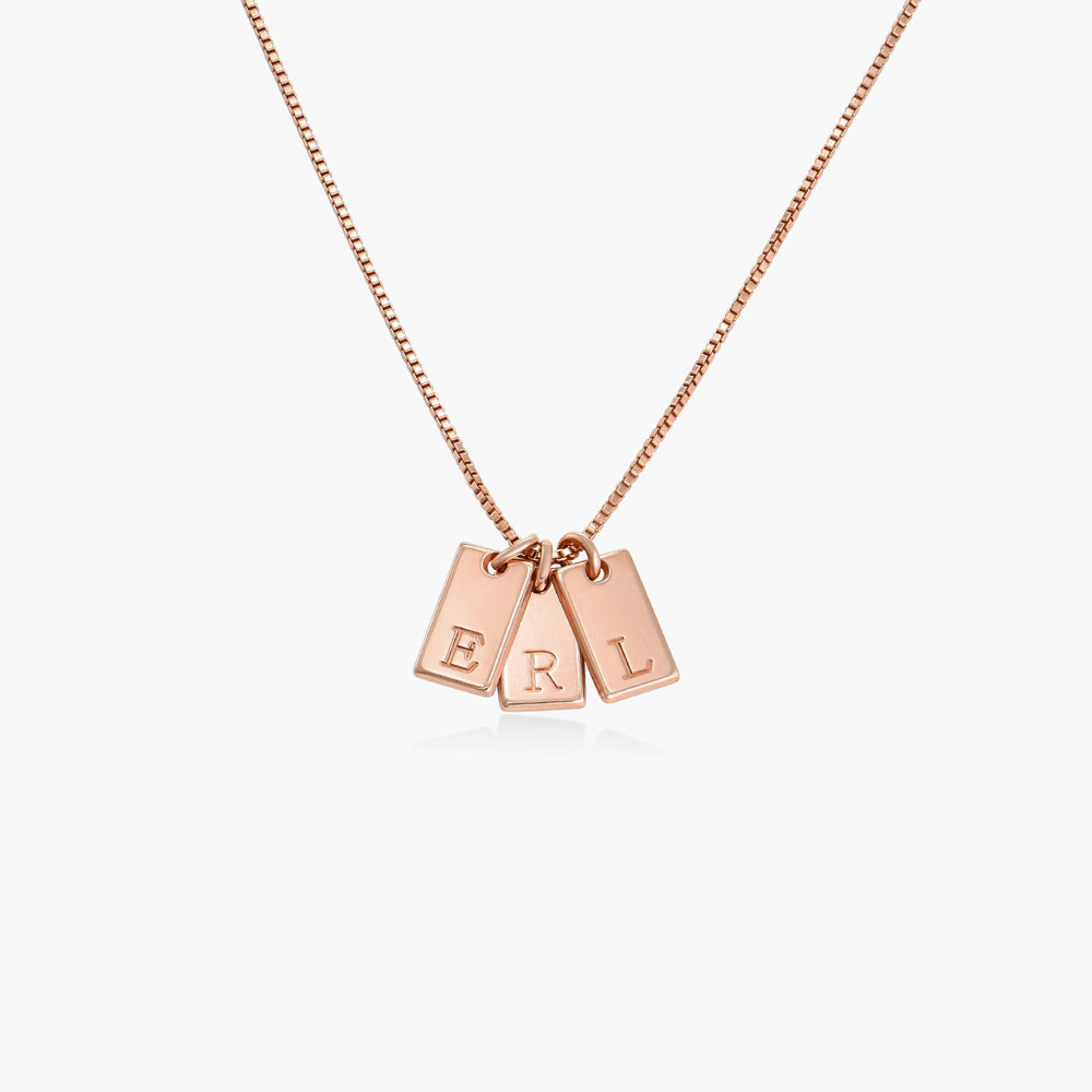 Willow Tag Initial Necklace - Rose Gold Plating