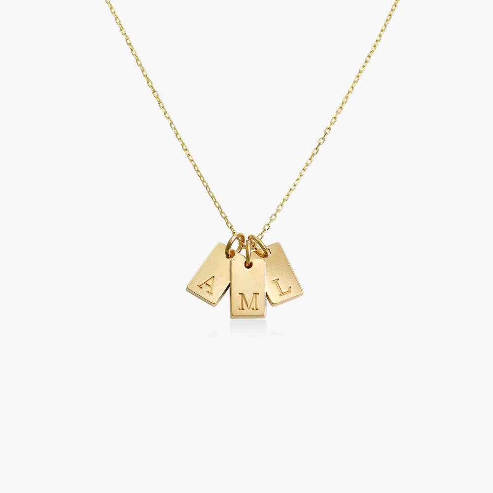 Willow Tag Initial Necklace - 10K Gold - 1