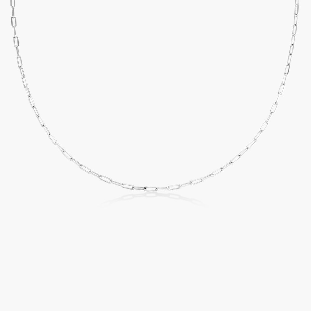 Rainey Chain Link Necklace - Sterling Silver