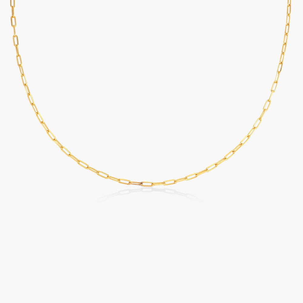 Rainey Thin Chain Link Necklace - Gold Plated