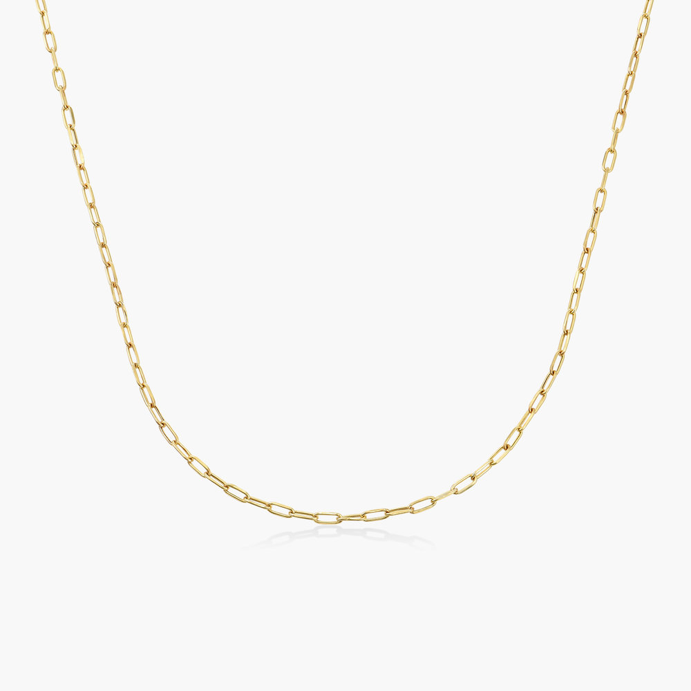 Rainey Thin Chain Link Necklace - 10k Gold