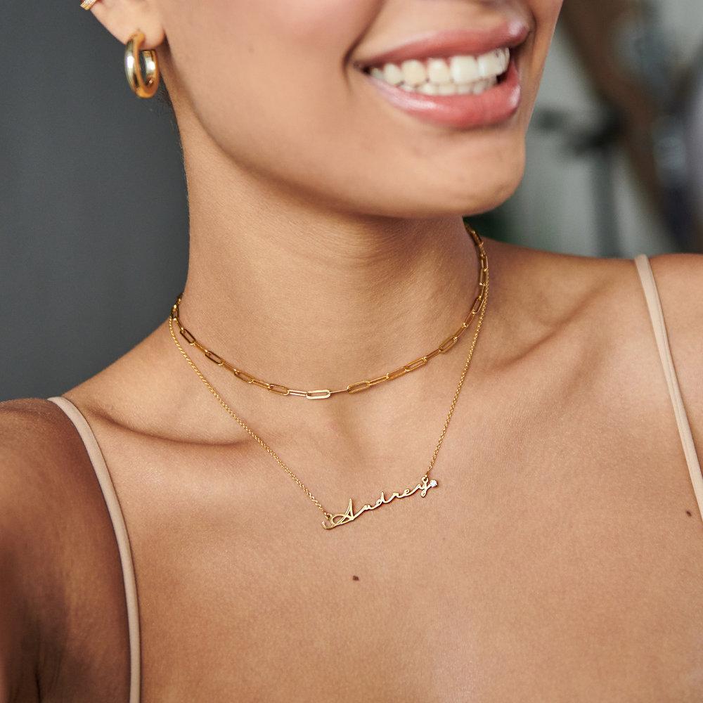 Rainey Thin Chain Link Necklace - Gold Vermeil - 1