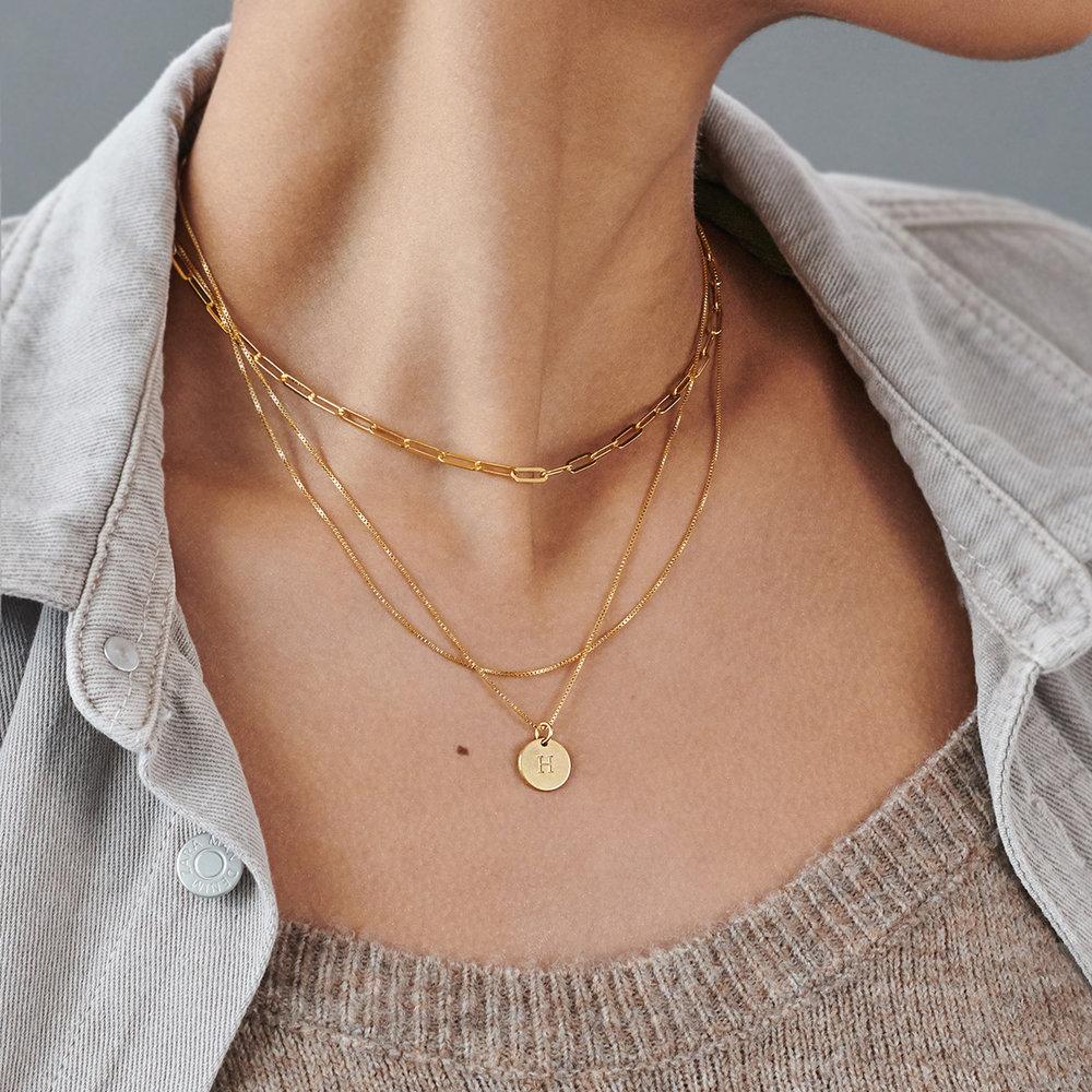 Rainey Thin Chain Link Necklace - Gold Vermeil - 2