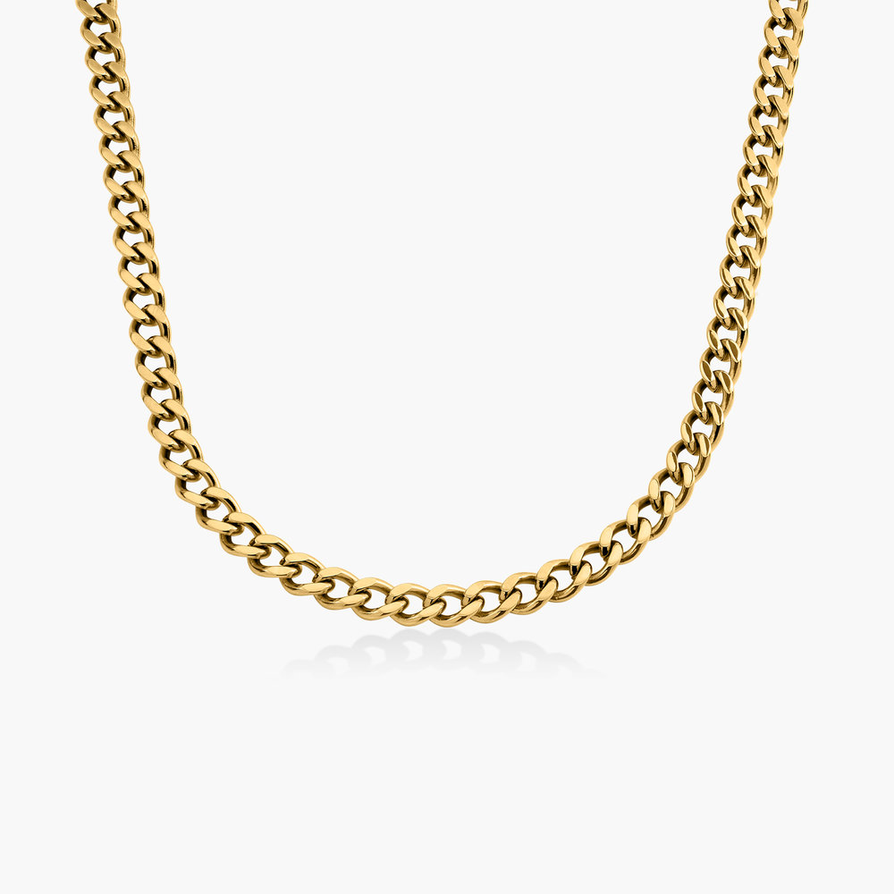Tallulah Gourmette Chain Necklace - Gold Plating