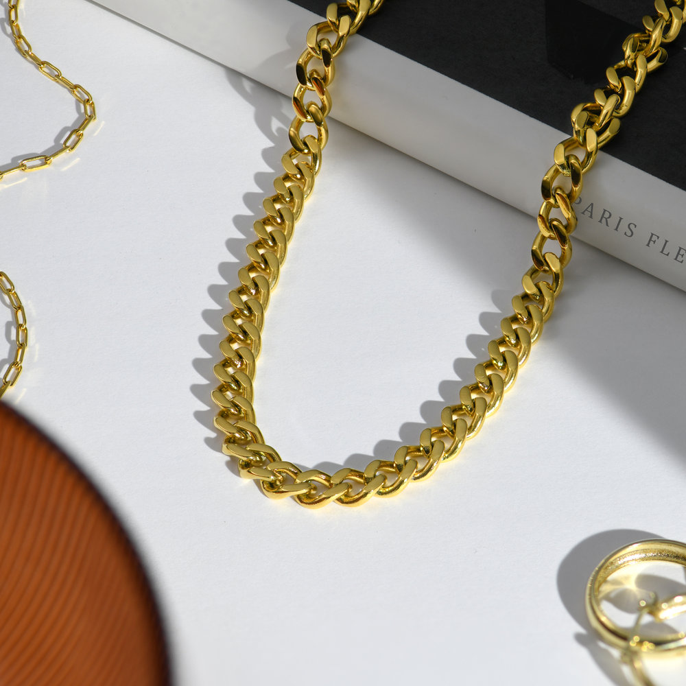 Farah Gourmette Chain Necklace - Gold Plating - 1