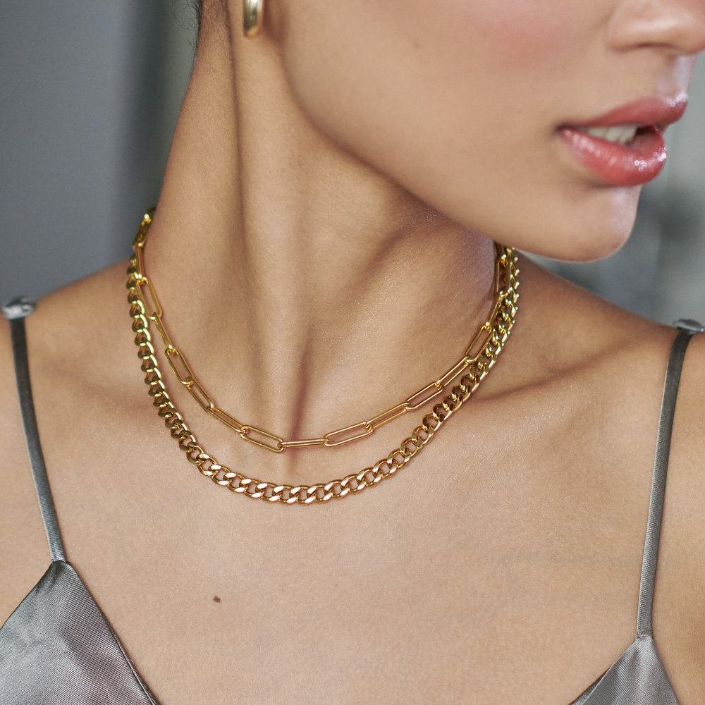 Farah Gourmette Chain Necklace - Gold Plating - 2