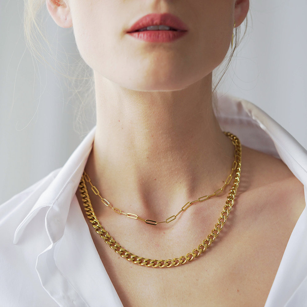 Farah Gourmette Chain Necklace - Gold Plating - 3