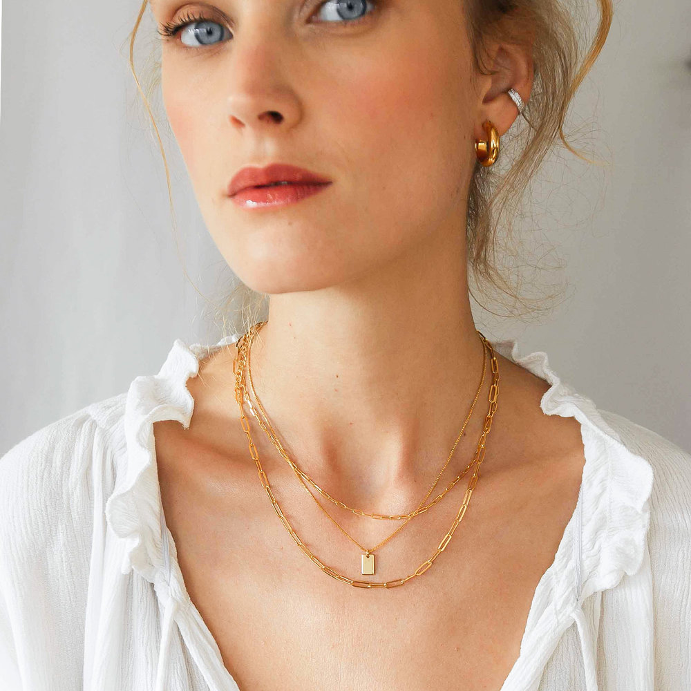 Willow Tag Necklace - Gold Plating - 3