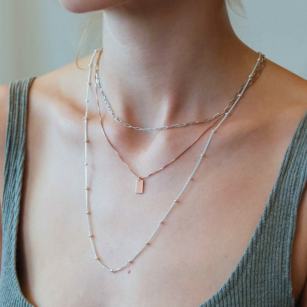 Willow Tag Necklace - Rose Gold Plating - 1