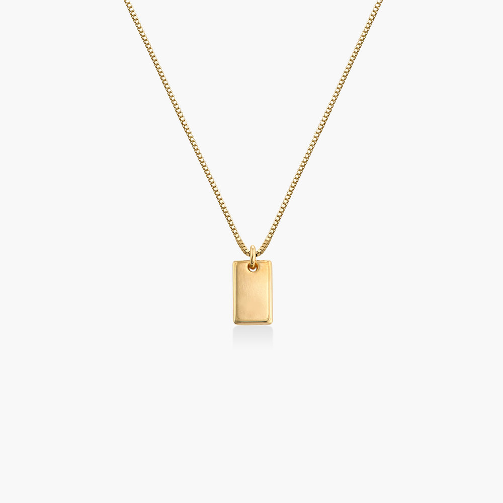 Willow Tag Necklace - Gold Vermeil
