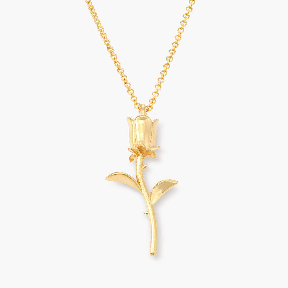 Rose Necklace in Gold Plating