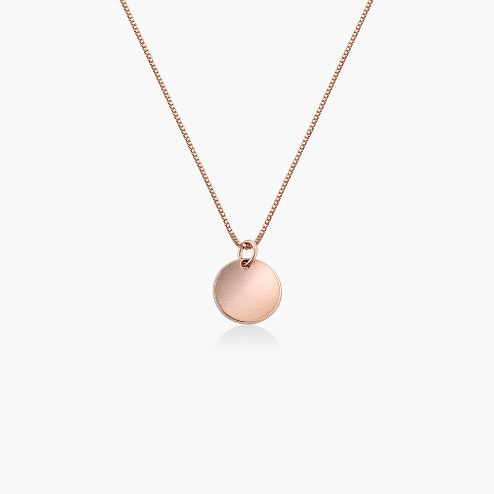 Willow Disc Necklace - Rose Gold Plating