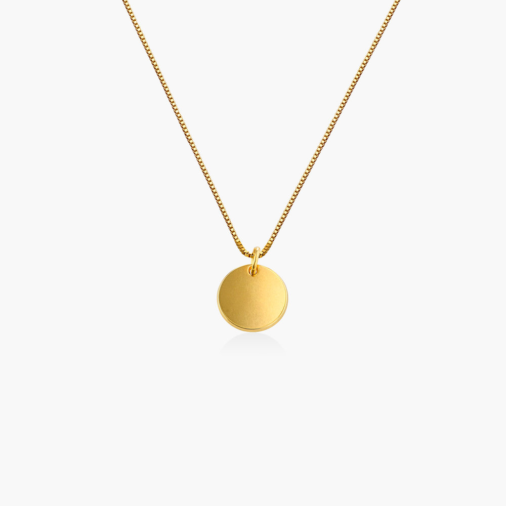 Willow Disc Necklace - Gold Vermeil