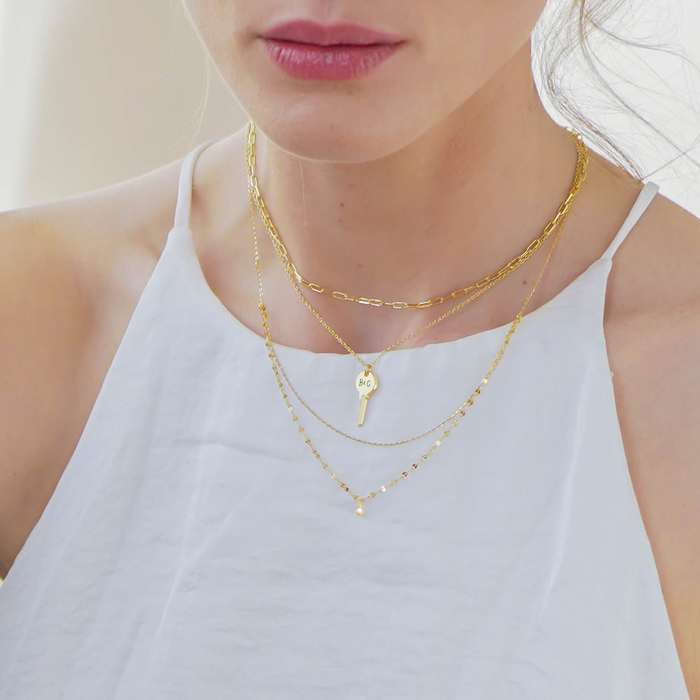The key necklace - Gold Plating - 3