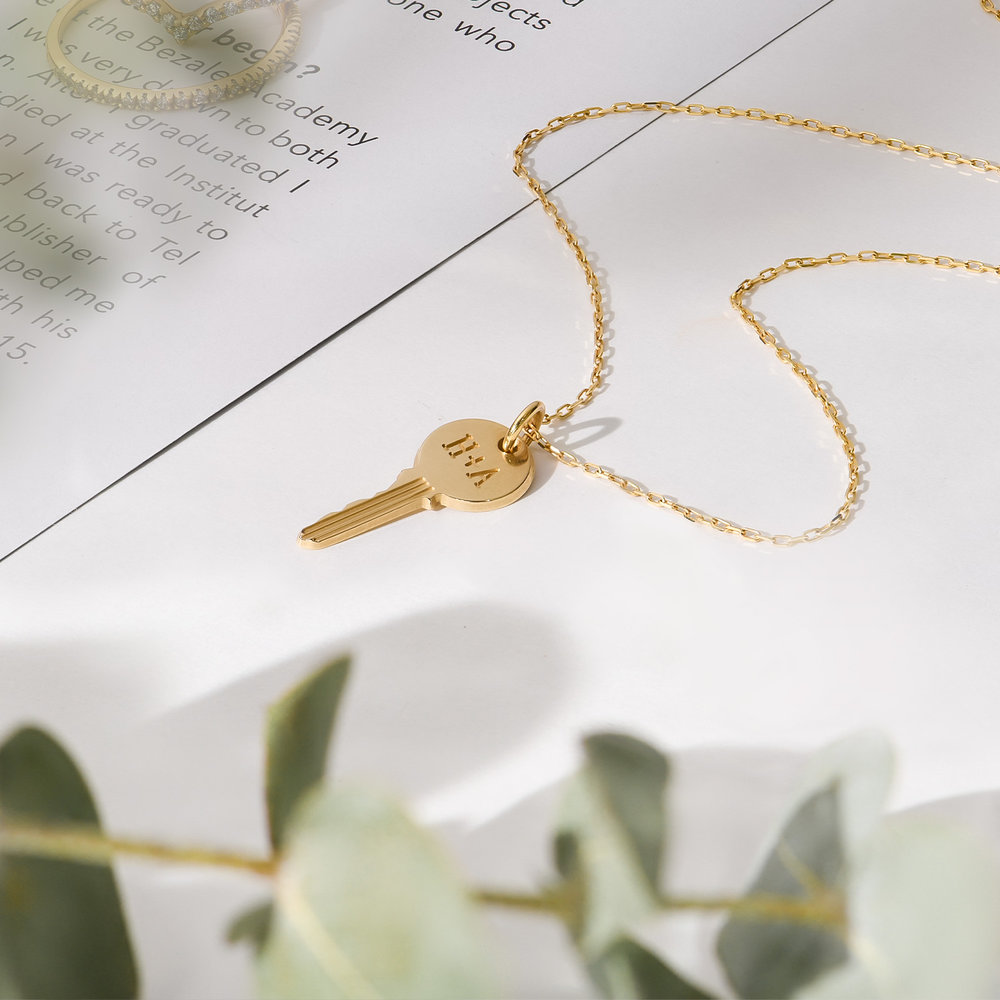 The Key Necklace- 10K Solid Gold - 1