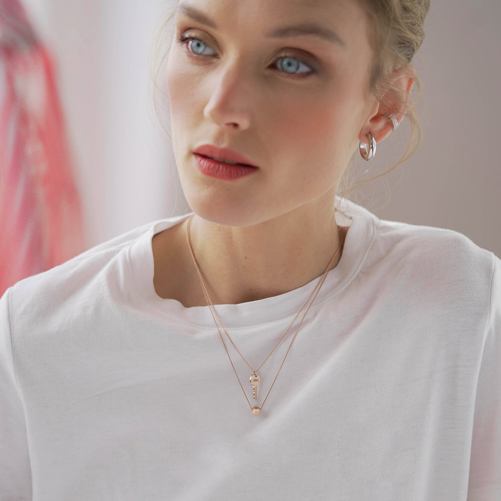 The key necklace - Rose Gold Plating - 2