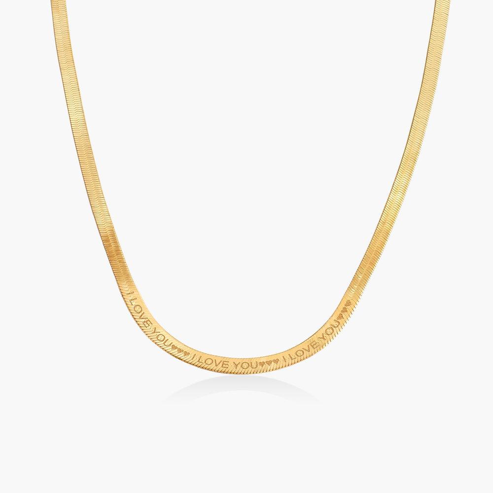 Herringbone Chain Necklace - Gold Vermeil