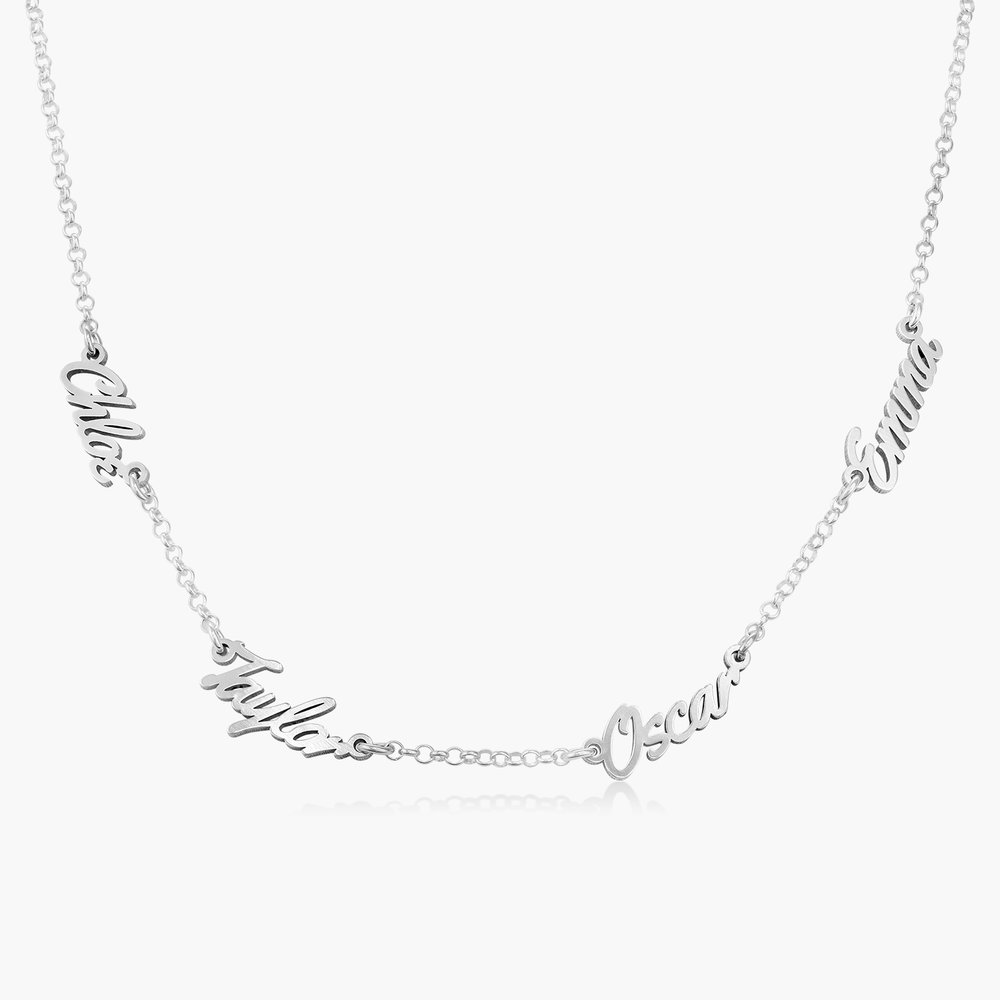 Real Love Multiple Name Necklace - Sterling Silver
