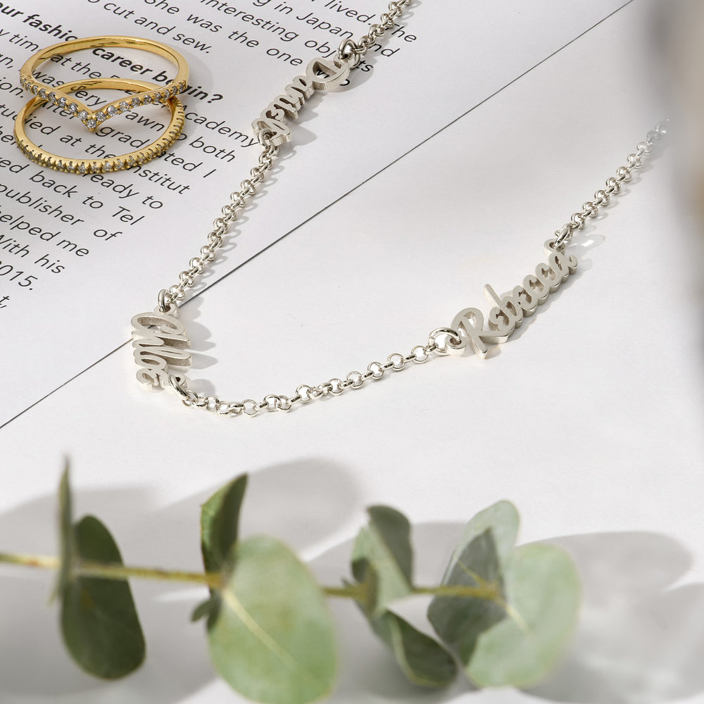 Real Love Multiple Name Necklace - Sterling Silver - 1