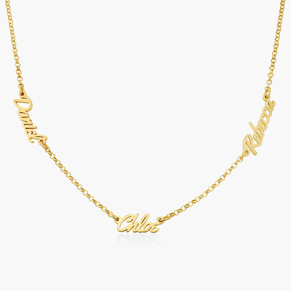 Real Love Multiple Name Necklace - Gold Plated