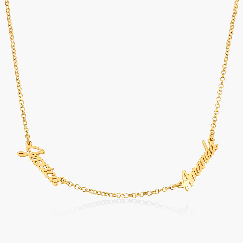 Real Love Multiple Name Necklace - Gold Vermeil