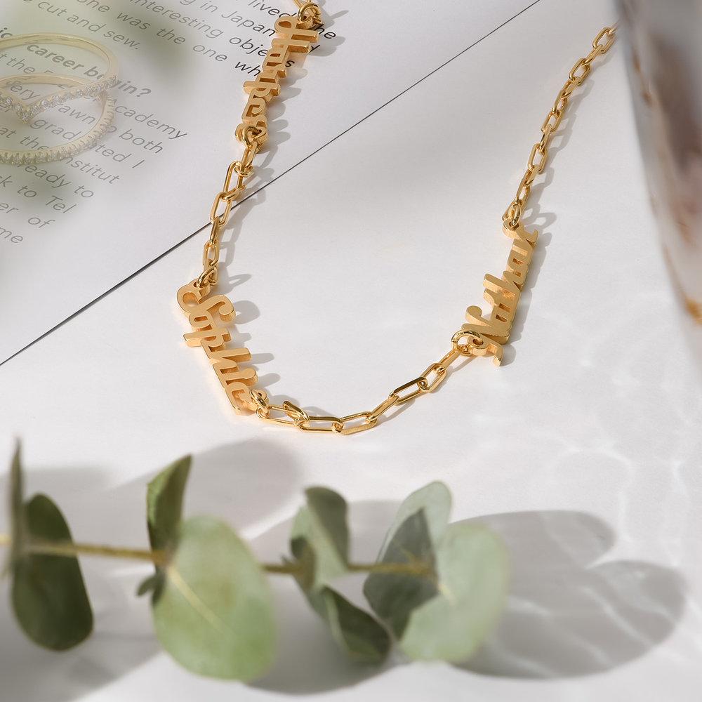 Multiple Link Name Necklace - Gold Vermeil - 1