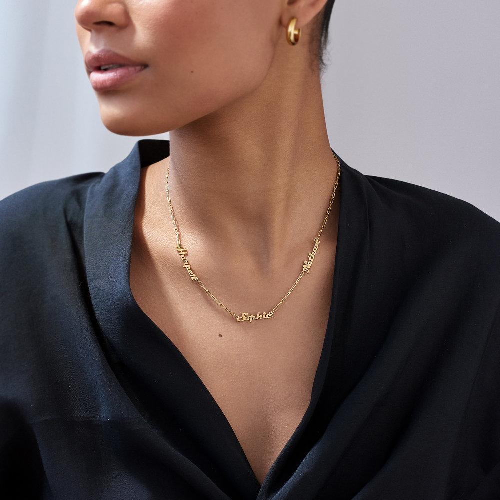 Multiple Link Name Necklace - Gold Vermeil - 2