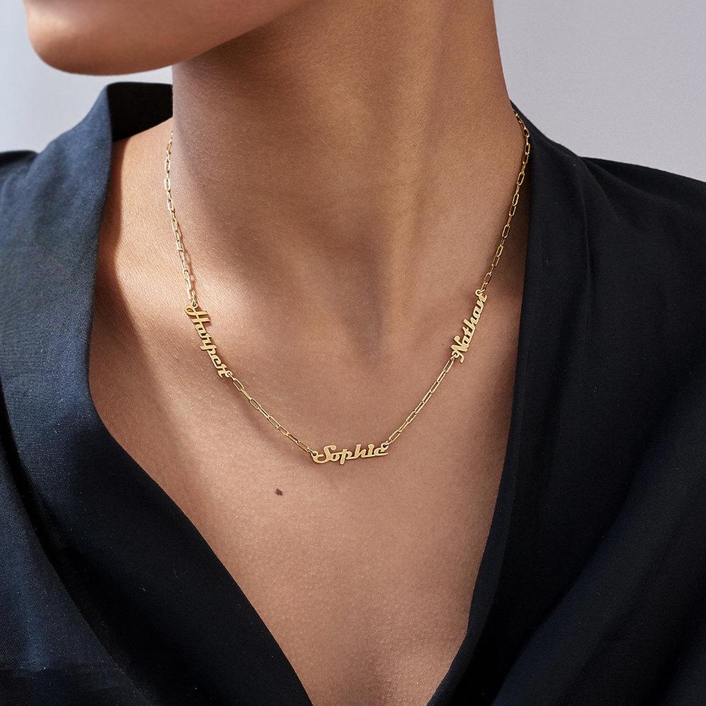 Multiple Link Name Necklace - Gold Vermeil - 3
