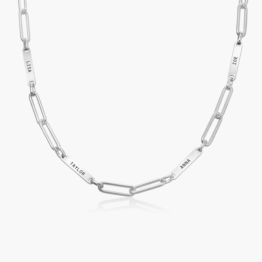 Ivy Name Paperclip Chain Necklace - Sterling Silver
