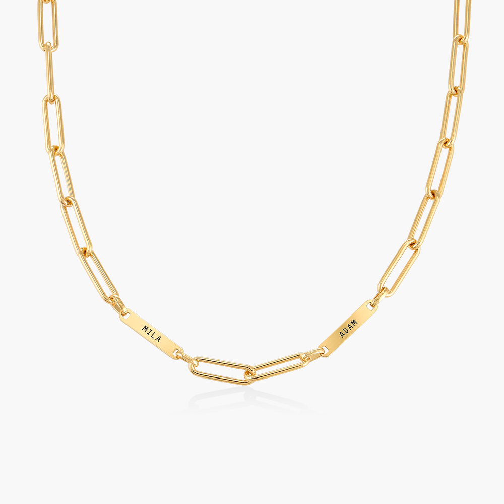 Ivy Name Link Chain Necklace - Gold Vermeil