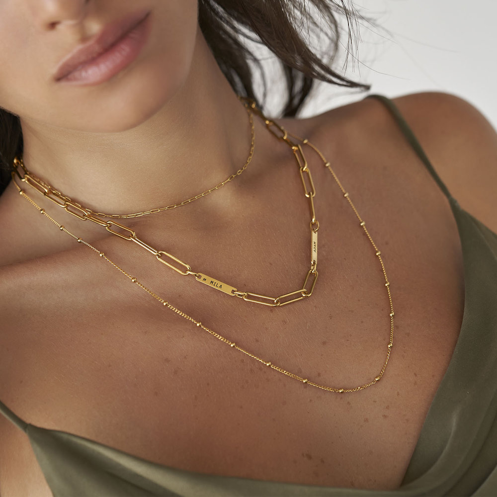 Ivy Name Link Chain Necklace - Gold Vermeil - 3