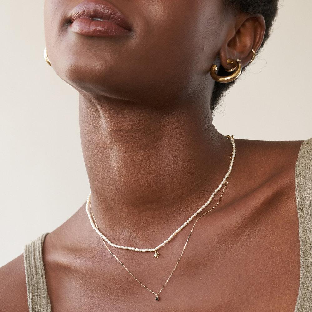 Tabitha Black Spinel Necklace - 14K Solid Gold - 2