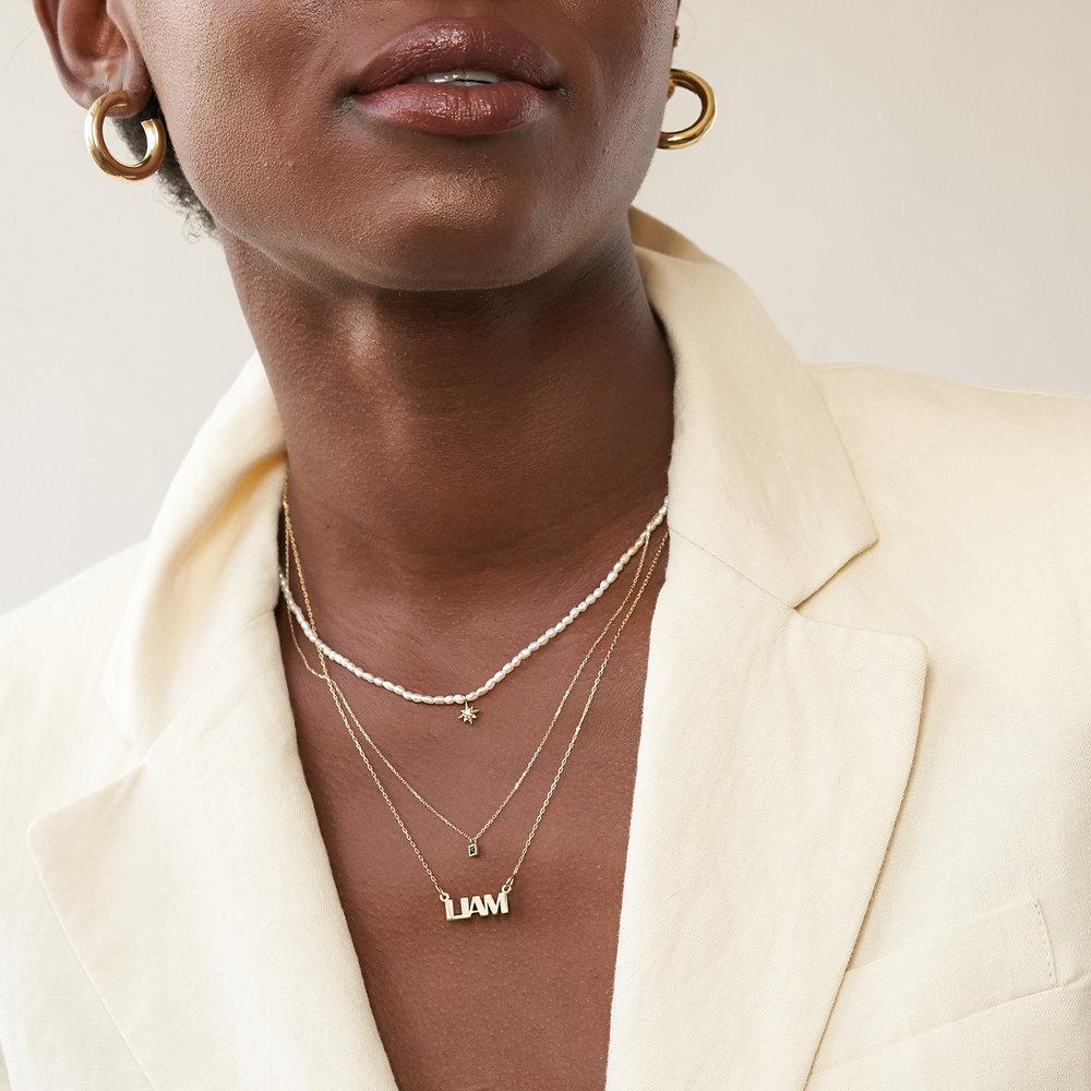 Tabitha Black Spinel Necklace - 14K Solid Gold - 3