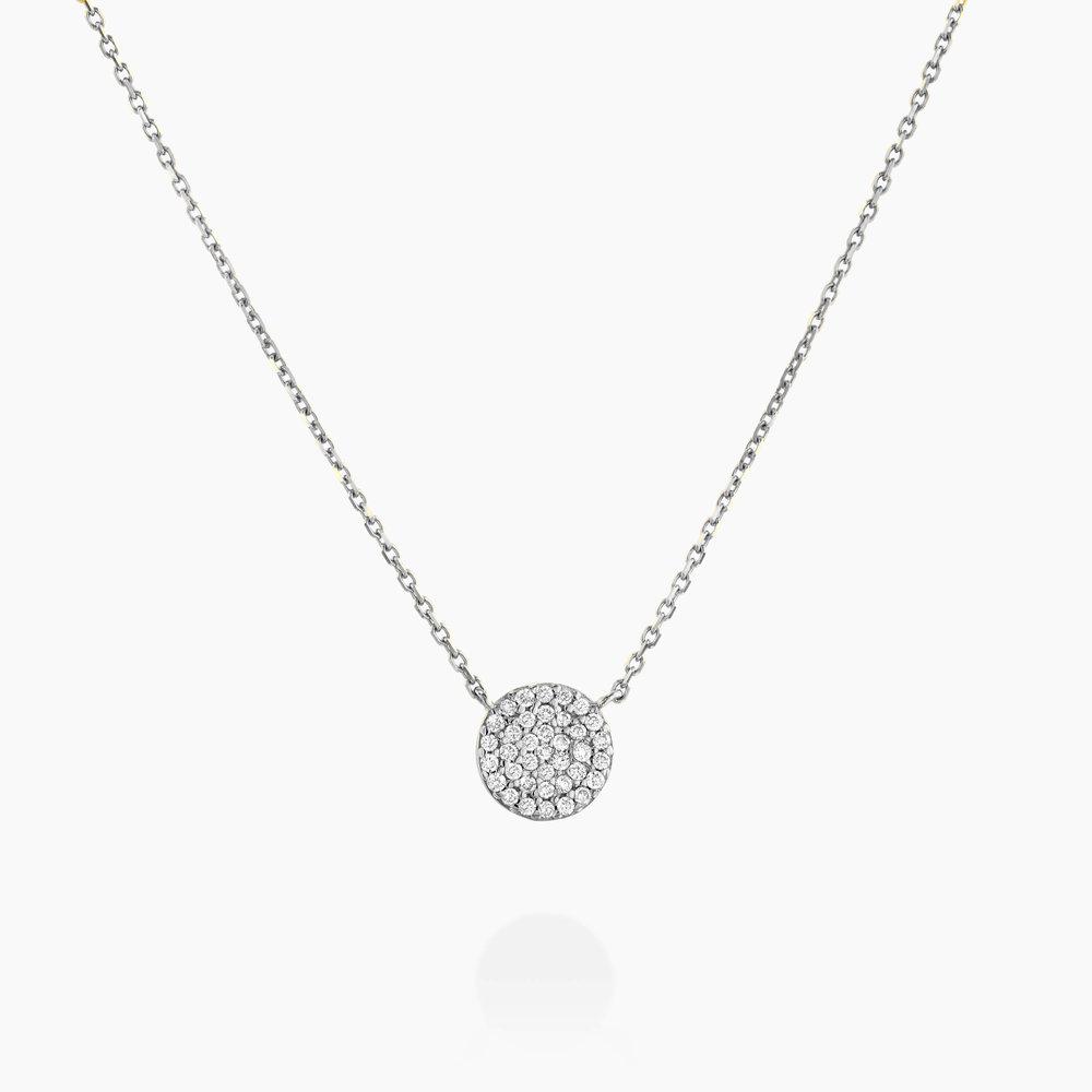 Keeya Pave Diamond Necklace - Sterling Silver